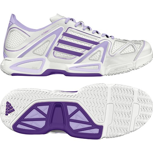 adidas Damen-Handballschuh ADIZERO BT FEATHER W (running white/purple)