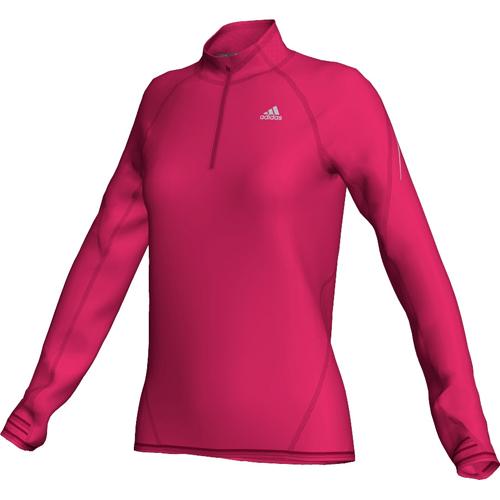 adidas Damen-Laufshirt (lang) SEQUENCIALS mit Stehkragen 1/2 ZIP
