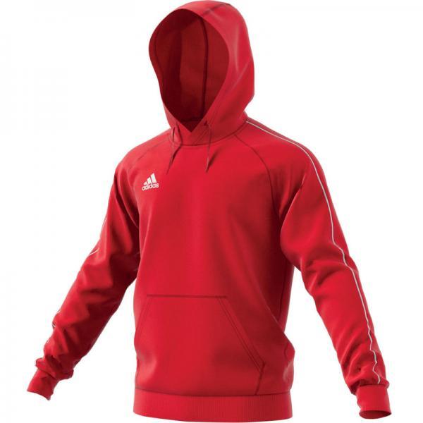 adidas Hoodie CORE 18 power red/white | 116