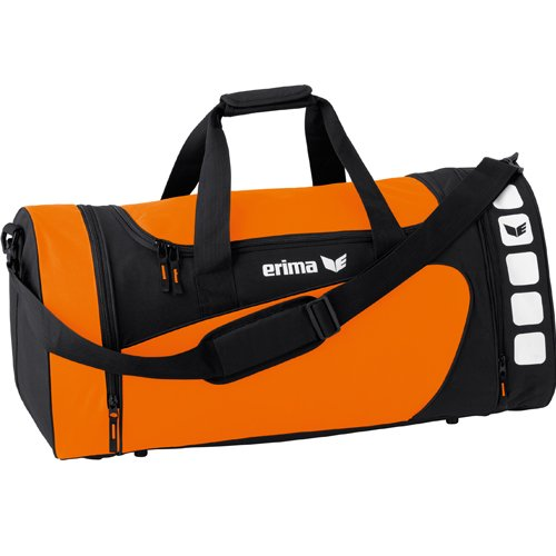 erima Sporttasche 5-CUBES (mit Nassfach) orange/schwarz | S