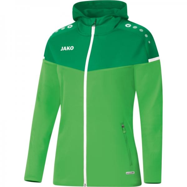 Jako Damen-Kapuzenjacke Champ2.0 soft green/sportgrün | 34
