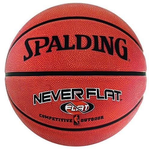 spalding Basketball NEVERFLAT Rubberball (Outdoor)