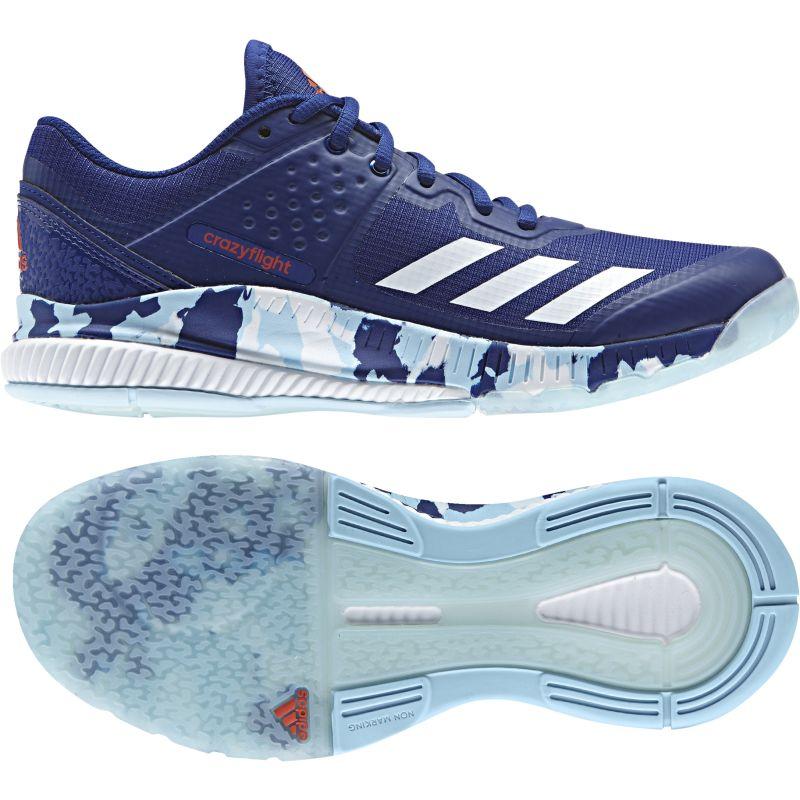 adidas Damen-Volleyballschuh CRAZYFLIGHT BOUNCE W mystery ink/ftwr  white/icey blue |