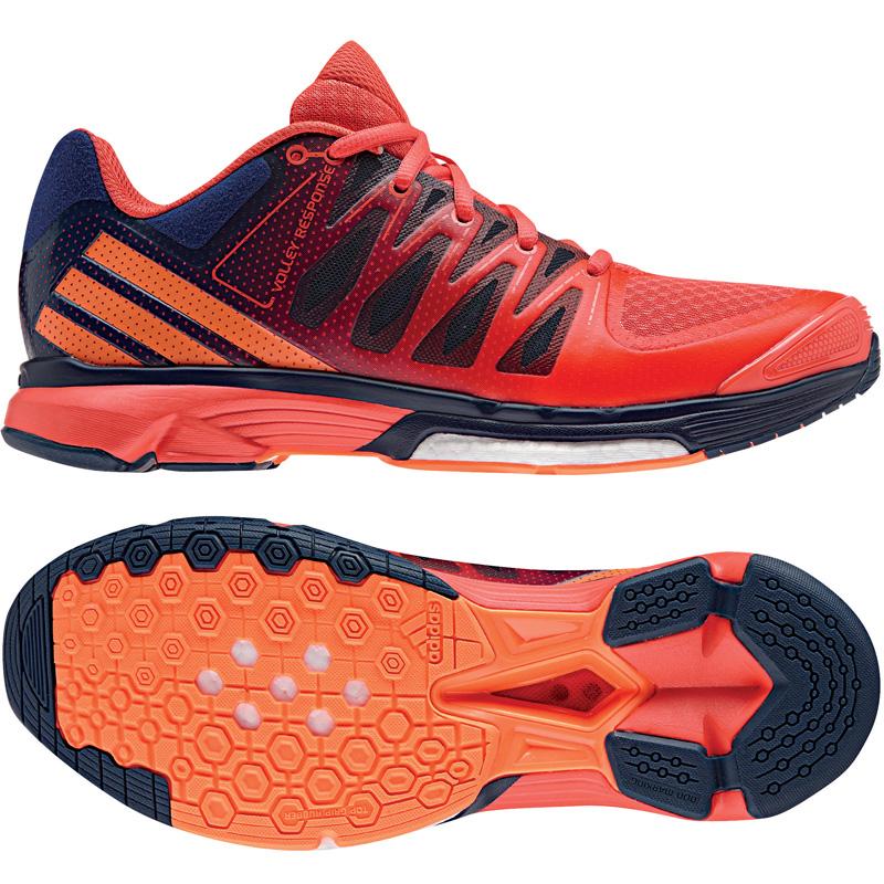 wholesale dealer c0780 b4f7b adidas Damen-Volleyballschuh VOLLEY RESPONSE 2 BOOST W mystery blueglow  orangeeasy