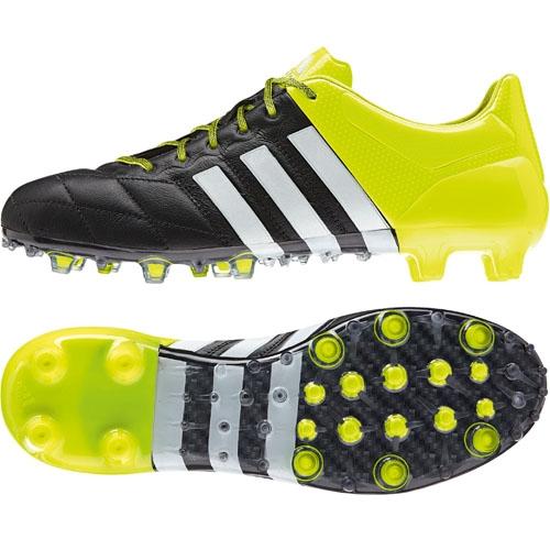 53a91e5864c733 adidas Fußballschuh ACE 15.1 FG AG LEATHER core black solar yellow