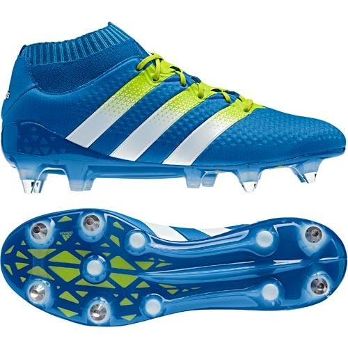 innovative design 725d3 c1a8d adidas Fußballschuh ACE 16+ PRIMEKNIT SG LIMITED shock bluesemi solar  slimewhite