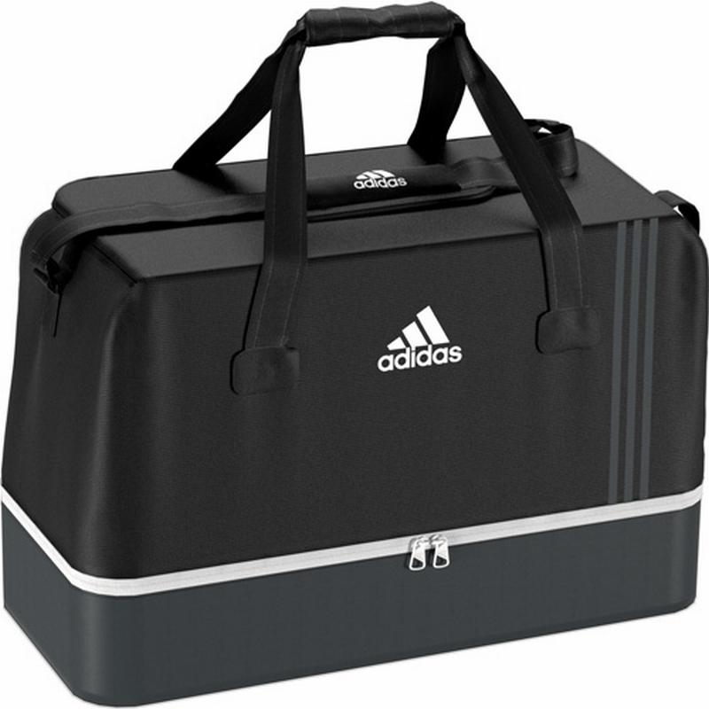 a8bb8b4e94c1 adidas Sporttasche TIRO 17 TEAMBAG - mit Bodenfach black dark grey white   S