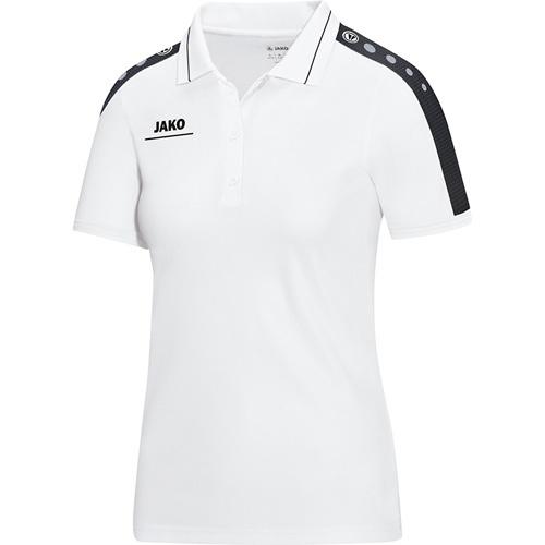 46a7dc6b02e0e0 Jako Damen-Poloshirt STRIKER weiß schwarz