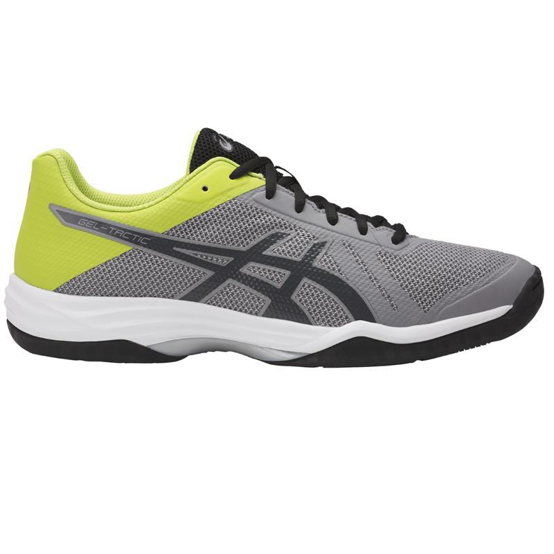 6aa507d7f269 asics Herren-Volleyballschuh GEL-TACTIC aluminum dark grey energy green