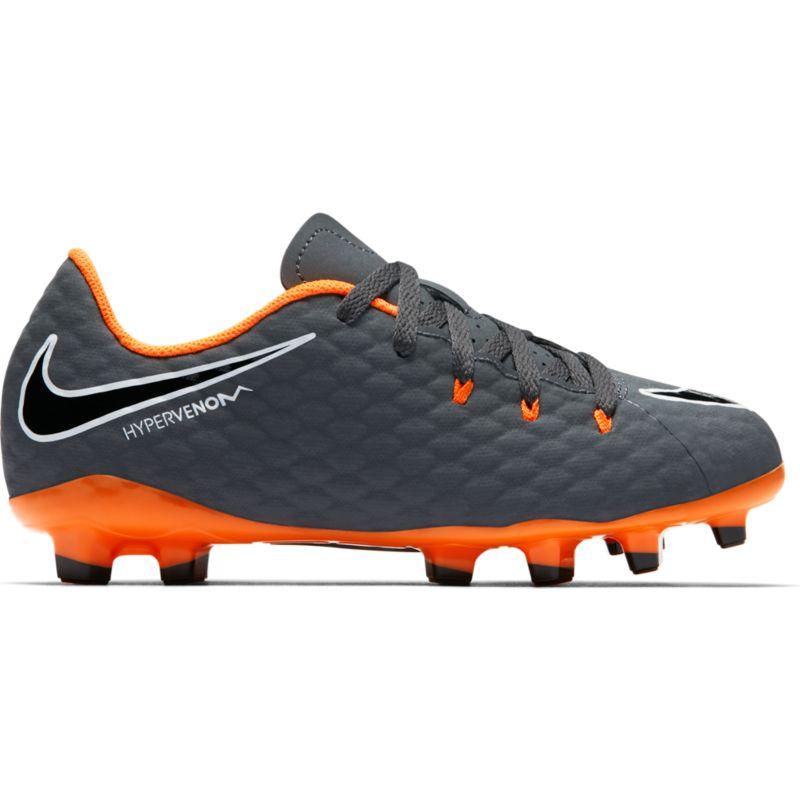 size 40 76b5a 43927 Nike Kinder-Fußballschuh Hypervenom Phantom 3 FG Jr dark greytotal orange   33