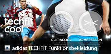 Die adidas TECHFIT Reihe wurde komplett überarbeitet und erweitert