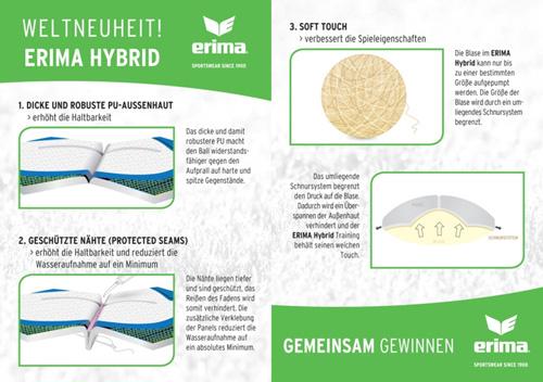 Eigenschaften erima Fußball HYBRID Training