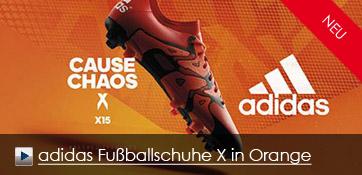 adidas Fussballschuh X in orange
