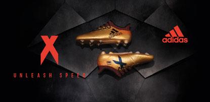 adidas Fußballschuh X in gold