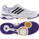 adidas Damen-Volleyballschuh OPTICOURT W (running white/sharp purple/shift purple)