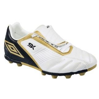 Umbro Fu�ballschuh VALOR LEAGUE JR. HGR (white/black/gold) - 36